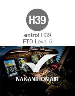 entrol H39 FTD Level 5 simulator installed in Japan