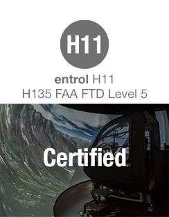 The first entrol simulator certified in the United States