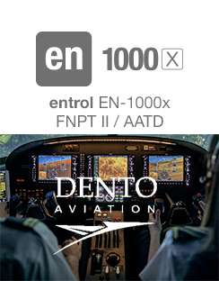 Dento Aviation acquires an en-1000x FNPT II simulator from Entrol.