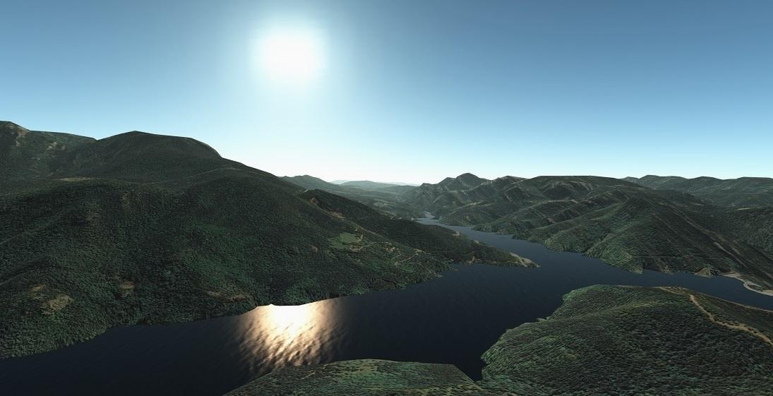 Terreno de alta resolución con fotos de satélite