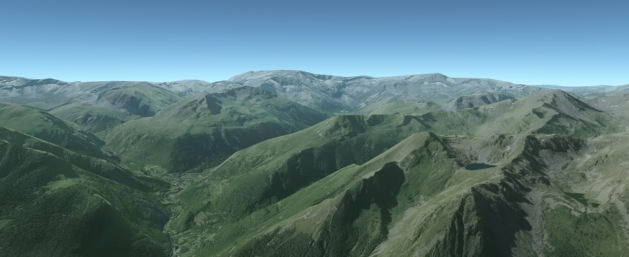 High resolution terrain with satellite imagery